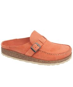d2702f9c78d8b The Buckley by Birkenstock is here! Soft suede in a lovely shade of coral.