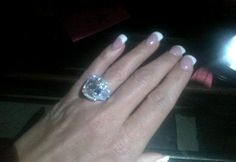 Two weeks after getting engaged to Kroy Biermann, Real Housewife of Atlanta Kim Zolciak has Tweeted out a photo of her 10-carat ring for all to see.