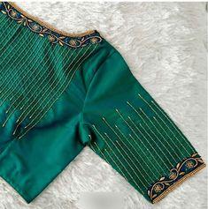 New Saree Blouse Designs, Cutwork Blouse Designs, Simple Blouse Designs, Stylish Blouse Design, Blouse Simple, Hand Work Blouse Design, Designer Blouse Patterns, Aari Embroidery, Elegant Saree