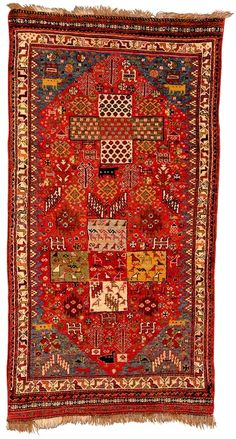 Antique Qashqai Rugs: Qashqai Bag 19th C Fars Province Lot 119