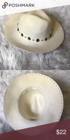 Kerol D Festival Season Brim Hat kerol d cream brim hat! brand new only worn once! my head is too big and i have too much weave to fit! :( all of the jewels are still on it! perfect for your festival, desert looks this year! Kerol D Accessories Hats