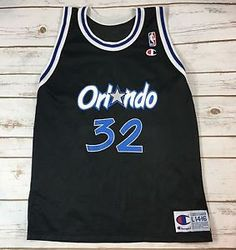 Vintage Champion Orlando Magic Shaquille O'Neal Throwback Jersey Youth L 14-16  | eBay