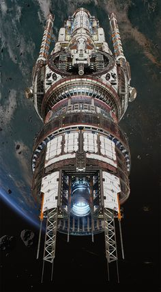 """A """"legendary"""" tier skin for the Titan Defence Systems """"Protector"""", a healer-class ship in Fractured Space.  Original Protector concept art by Long Ouyang, original model work by Shaun Stephenson.  Redesign, textures and a bunch of model work by yours truly with some help from ECG lead artist Alex Clarke. Background environment by ECG environment artist, Rob Blight."""