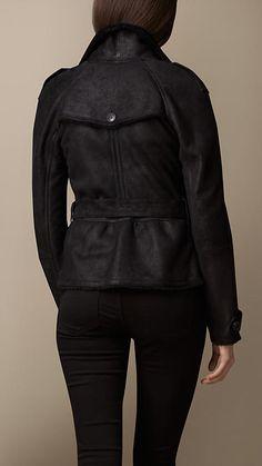 Merino Shearling Funnel Neck Jacket | Burberry Brit