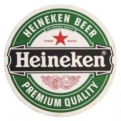 Cerveja Heineken bolacha de chopp