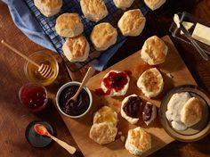 Butter, jams and gravy -- there are plenty of delicious ways to top a homemade buttermilk biscuit. During your next visit to Cracker Barrel Old Country Store, pick up a jar of Spiced Apple Butter to spread on your biscuits at home.