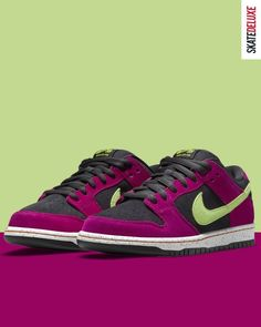 """The Nike SB Dunk Low Pro ACG Terra """"Red Plum"""" will be available exclusively for Premium Club FLOWs, AMs and PROs via Release Raffle. The Raffle will run from 25.08.2021, 16:00 until 26.08.2021 , 23:59 (CEST). Skate Shoe Brands, Skate Shoes, Nike Sb, New Skate, Shoe Releases, Converse, Vans, Color Pairing, Premium Club"""