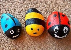 easy rock painting for kids ~ crafts and arts ideas