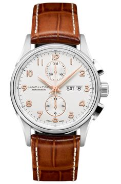 The Hamilton Jazzmaster Maestro Auto Chrono.  Pro: looks exactly like an IWC Portuguese chrono at 1/4 the price.  Con: looks... *exactly* like an IWC Portuguese chrono (albeit with a date added), to the point where I kind of feel like it's more a copy than an homage.