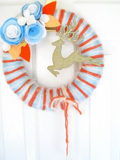 Wreath - leave off that awful reindeer {mps}