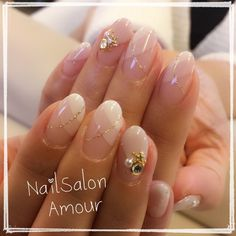 Japanese nail design - A dressed up French mani