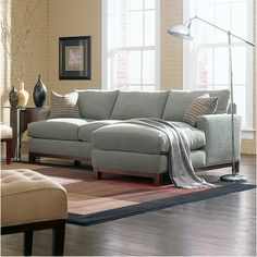 Sullivan Mini Mod Apartment Sectional Sofa For Personal Living Room: 13 Appealing Overstuffed Sectional Sofa Image Ideas
