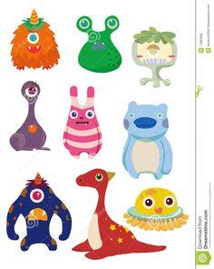 Cartoon Monsters Clipart