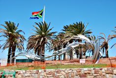 A river monument near the Donkin, Port Elizabeth, South Africa.