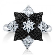 #Berricle                 #ring                     #Cubic #Zirconia #Sterling #Silver #2-Tone #Flower #Fashion #Ring ##r657      Cubic Zirconia CZ 925 Sterling Silver 2-Tone Flower Fashion Ring #r657                                  http://www.seapai.com/product.aspx?PID=1263191