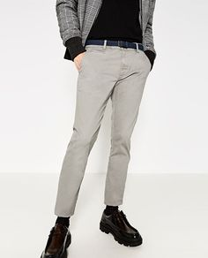 Image 2 of CHINO TROUSERS WITH BELT from Zara