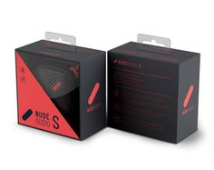 Move S. Portable Bluetooth speaker. #packaging #coral #NudeAudio #Move