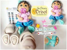 Foam Crafts, Smurfs, Sculpting, Baby Shower, Character, Dolls Dolls, Jars, Made By Hands, Craft