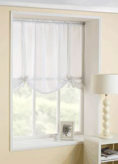 Casablanca White Tie Blind from Net Curtains Direct
