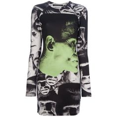 CHRISTOPHER KANE 'Frankenstein' print jersey dress