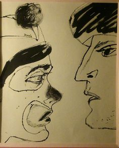 FRANTISEK JANULA circa 1968 dessin original encre sur papier République tchèque