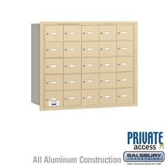 4B+ Horizontal Mailbox - 25 A Doors - Sandstone - Rear Loading - Private Access by Salsbury Industries. $787.50. 4B+ Horizontal Mailbox - 25 A Doors - Sandstone - Rear Loading - Private Access - Salsbury Industries - 820996418883. Save 10%!