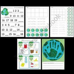 Kindergarten Earth Day Worksheets / Activities product from Kindergarten-Supplies on TeachersNotebook.com