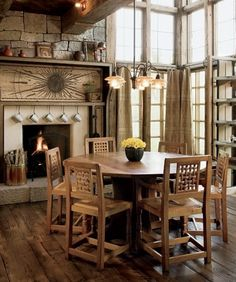 Dining Table Traditional Ranch House Design Colorado Decor Ideas
