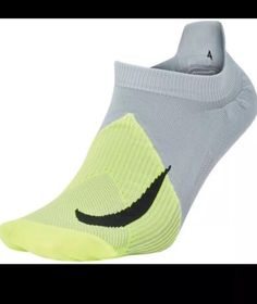 aebc9f07887 Nike Golf Elite Lightweight No Show Socks Volt Grey Black SG0797-012-
