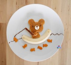 Bear Fishing Food Art Bento - the Cute Snacks, Snacks Für Party, Cute Food, Funny Food, Snacks Kids, Food Art For Kids, Cooking With Kids, Fun Food For Kids, Children Food