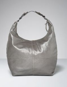 soft leather bag in metallic pewter #boden