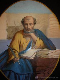 San Juan Evangelista, Luke The Evangelist, Jesus Pictures, Bird Art, Sacred Geometry, Landscape Art, Storytelling, St Luke, Religion