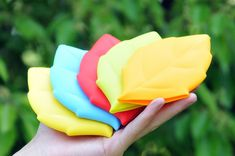 Leaf Shaped Travel Silicone Pocket Cup / Toothbrush Cover - $5.00 each
