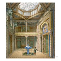 Copula Style Ceiling, Design for the Entrance Hall to Wilhelma, 1837 Giclee Print by Karl Ludwig Wilhelm Zanth at AllPosters.com