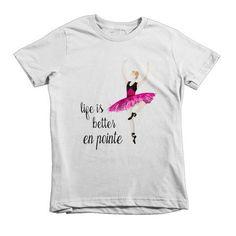 Hot PInk Ballerina Short sleeve kids t-shirt