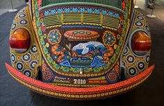 A 1990 Volkswagen Beetle becomes a canvas for the symbols, milestones and stories of the deeply spiritual culture of the Huichol, or Wixaritari, communities of Nayarit and Jalisco in Mexico. The piece of art is at the National Museum of the American Indian in the District through May 6.