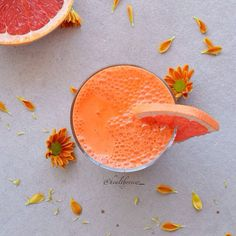 Carrot, Grapefruit, Lemon, & Ginger Juice // Healthy View. Find this #recipe and more on our Juice Feed at https://feedfeed.info/juice?img=908983 #feedfeed