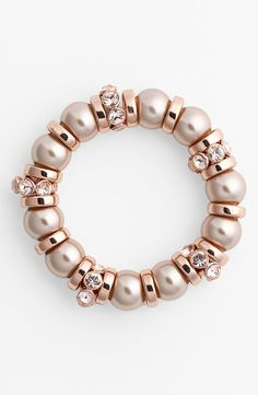 Givenchy Glass Pearl Stretch Bracelet