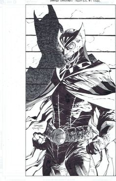 Before Watchmen Nite Owl cover. Penciled by Jim Lee, inked by me. Before Watchmen Nite Owl Comic Book Artists, Comic Artist, Comic Books Art, Black And White Comics, Black And White Sketches, Aquaman, Jim Lee Art, Valiant Comics, Art Basics