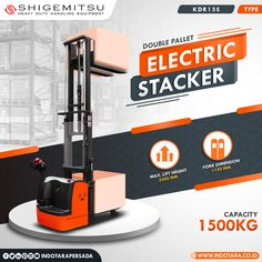 Shigemitsu Double Pallet Electric Stacker Kapasitas 1500 Kg #indotara #ptindotarapersada #indotarapersada #ptindotara #shigemitsu #manualstacker #handpallet #handlift #electricstacker #handstacker #semielectricstacker #electricstackers #heavyduty #handlingequipment #warehouseequipment #warehouseequipments #electricstackerjakarta #electricstacker #electricstackerbandung #electricstackersurabaya #electricstackermedan #electricstackersemarang Warehouse Equipment, T Max, Pallet, Vacuums, Home Appliances, House Appliances, Palette, Pallets
