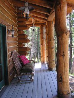 perfect lake cabin porch