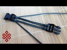 How to Make Four Strand Core Double Cow's Hitch Buckle Tutorial - YouTube