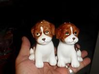 I NEED these!! ''CUTE '' SET OF PUPPY  SALT AND PEPPER SHACKERS ''FREE SHIPPING''