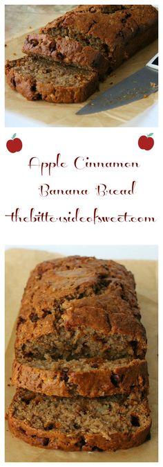 Apple Cinnamon Banana Bread - theBitterSideofSweet