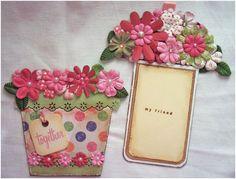 Flower Pot Shaped Card  ⊱✿-✿⊰ Follow the Cards board. Visit GrannyEnchanted.Com for thousands of digital scrapbook freebies. ⊱✿-✿⊰
