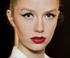 Red, Lipstick, Eyeliner, Beauté