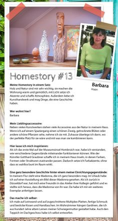 Farbinseln, Kunstwerke und Natur: Barbaras Homestory - Homestory. #homestory #homestoryde #home #interior #design #inspiring #creative #art #nature #wood