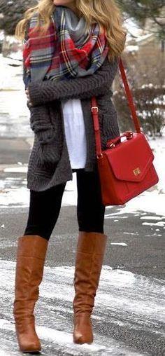 #winter #fashion / knit + boots
