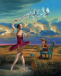 Fortuity of Choices by Michael Cheval. For more info, call us at 301.881.5977. Email: info@huckleberryfineart.com or visit our website. Like us on Facebook or follow us on Tumblr and Twitter!