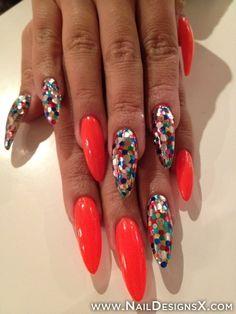sexy mix stiletto nail art - Nail Designs & Nail Art